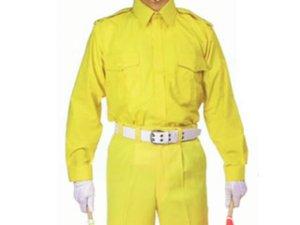 画像1: 列車見張用 黄色 長袖カッター