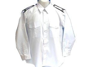 画像2: 夏 肩章(反射)付き 白色ワイシャツ 長袖/半袖