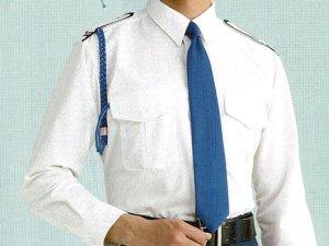 画像1: 夏 肩章(反射)付き 白色ワイシャツ 長袖/半袖