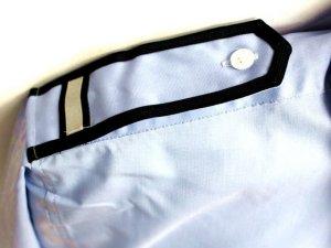 画像2: 【女子用】 夏 肩章(反射)付き サックス ワイシャツ 長袖/半袖