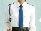 【女子用】 夏 肩章(反射)付き 白色ワイシャツ 長袖/半袖