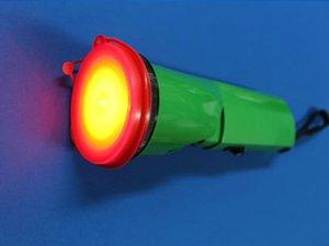 画像4: 充電式LEDニッケルライト(列車見張り用赤色フィルター付き)
