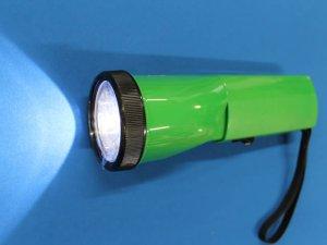 画像1: 充電式LEDニッケルライト(列車見張り用赤色フィルター付き)