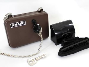 画像1: アマノ パトロールレコーダー PR-600S 本体+鍵・鍵箱15個セット