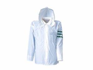 画像1: 警備 雨合羽 上衣 ズボン付 レインストーリー1535 塩化ビニール