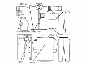 画像3: 警備 雨合羽 上衣 ズボン付 レインストーリー2830 塩化ビニール