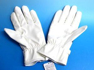 画像2: 防寒 白手袋 夜光付