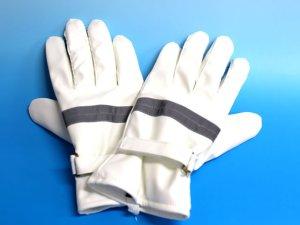 画像1: 防寒 白手袋 夜光付