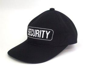 画像1: アポロキャップ SECURITY 黒