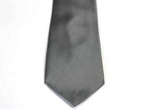 画像1: 高級ネクタイ シルバー