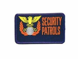 画像1: 警備ワッペン 織マーク 名入れ加工(2枚以上で名入れします)