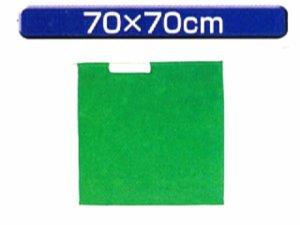 画像1: 手旗 緑 70X70cm 棒付き