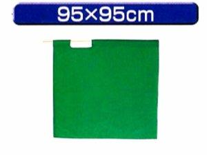 画像1: 高速用手旗 緑 95X95cm 棒付き