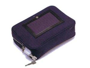 画像1: 現金輸送用 固定錠付帆布メールポーチ(小)