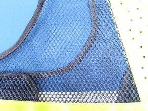 画像4: 夏用 サマーメッシュ安全ベスト ショート丈40cm 紺メッシュxイエロー反射