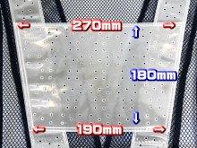 他の写真2: 夏用 サマーメッシュ安全ベスト 台形シート付 ブルーxシルバー反射