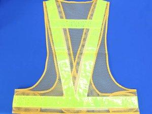 画像2: 夏用 サマーメッシュ安全ベスト 黄メッシュxイエロー反射