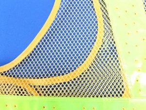 画像4: 夏用 サマーメッシュ安全ベスト ショート丈40cm 黄メッシュxイエロー反射