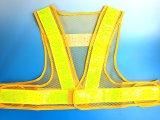 夏用 サマーメッシュ安全ベスト ショート丈40cm 黄メッシュxイエロー反射