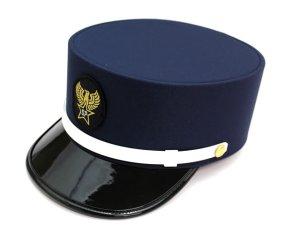 画像1: ドゴール帽 紺色(ダークネイビー) 帽章付き