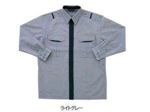 画像1: 冬 警備用 長袖カッター ライトグレー
