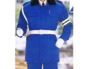 画像1: 警備 防寒カストロコート ブルー 【日本製】
