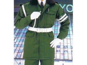 画像1: 警備 防寒カストロコート グリーン 【日本製】