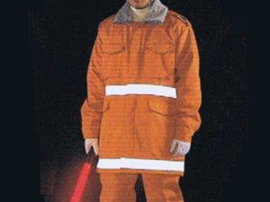 画像2: 警備防寒コート 反射テープ付き