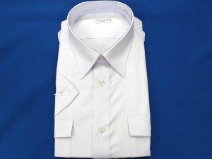 画像2: 夏 肩章付き 白色ワイシャツ 半袖