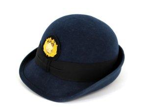 画像1: ハイバック帽 (交)帽章付き