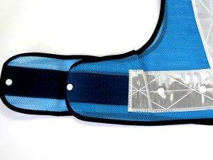 画像3: 夜光チョッキ 7cm幅 幅広 ブルーメッシュ・シルバー反射 サイズ調整ベスト