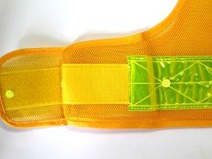 画像3: 夜光チョッキ 7cm幅 幅広 黄メッシュ・イエロー反射 サイズ調整ベスト