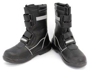 画像1: 安全靴 半長靴マジック式 反射テープ付